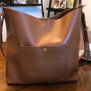 Ralph Lauren cognac leather handbag